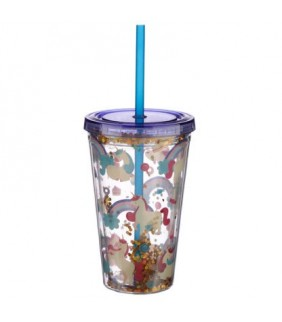 Vaso de plástico con tapa y...