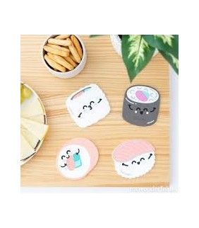 "Set de 4 posavasos  silicona SUSHI"" Mr.Wonderful"""