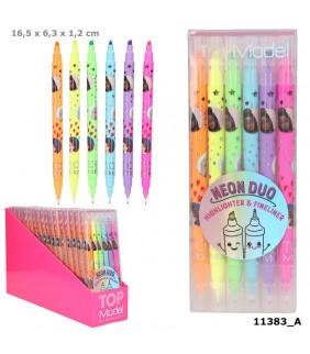 Bolso de algodón cremallera Simon´s Cat Rosa