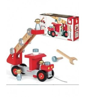 2-4 AÑOS.Camion de Bomberos. Construye