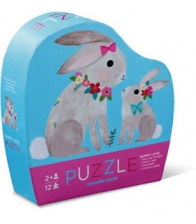 + 2 AÑOS.12pc Mini Puzzle Bunny Love