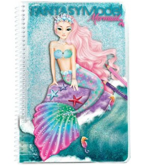 Fantasy Model, cuaderno para colorear, (con agua)