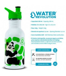 Botella acero inoxidable Oso Panda 500ml