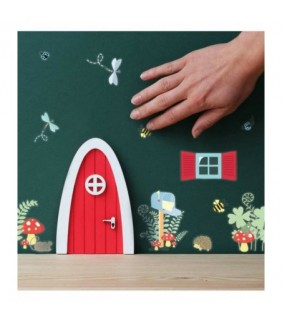 Fairy Door Forst life con 40stickers