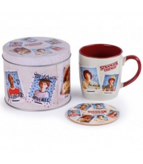 Lata regalo+taza+posavasos Stranger Things