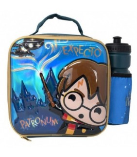 Bolsa portameriendas con botella Harry Potter